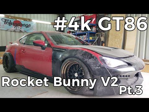 4k GT86 Rocket Bunny Install Part 3 - Side Skirts