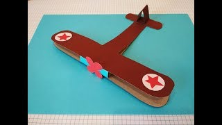 Поделки на 23 февраля. Как сделать самолет из картона и цветной бумаги своими руками. Подарок папе.