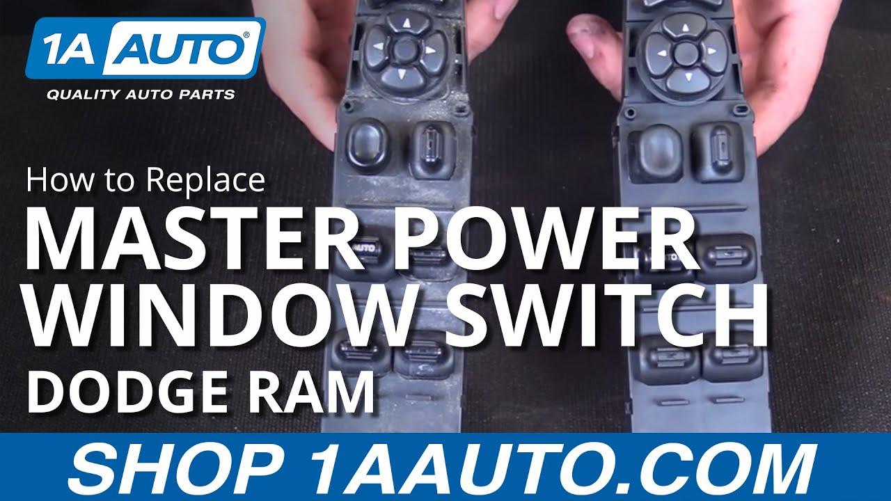 how to replace master power window switch 02 08 dodge ram [ 1280 x 720 Pixel ]