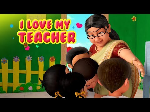 I love My Teacher Balgeet | Hindi Rhymes for Children | Infobells