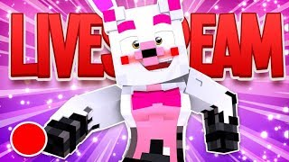 Playing With Fans On Hypixel! (A Minecraft Fnaf Live Stream)