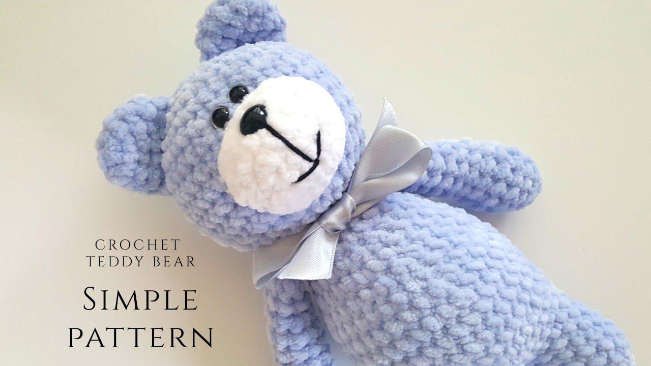 Free Knitting Pattern for a Teddy Bear in Velvet ⋆ Crochet Kingdom | 720x1280