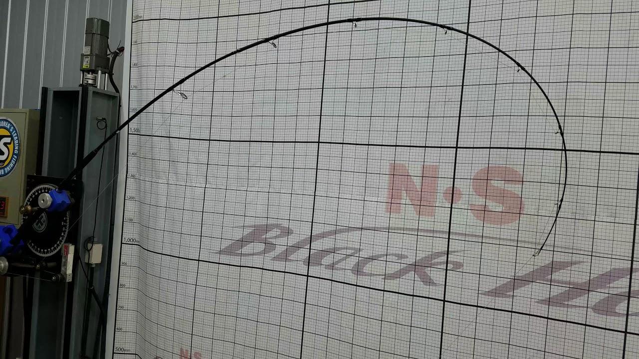 """machine test of light 9'6"""" Black Hole Suzuki Special rod"""