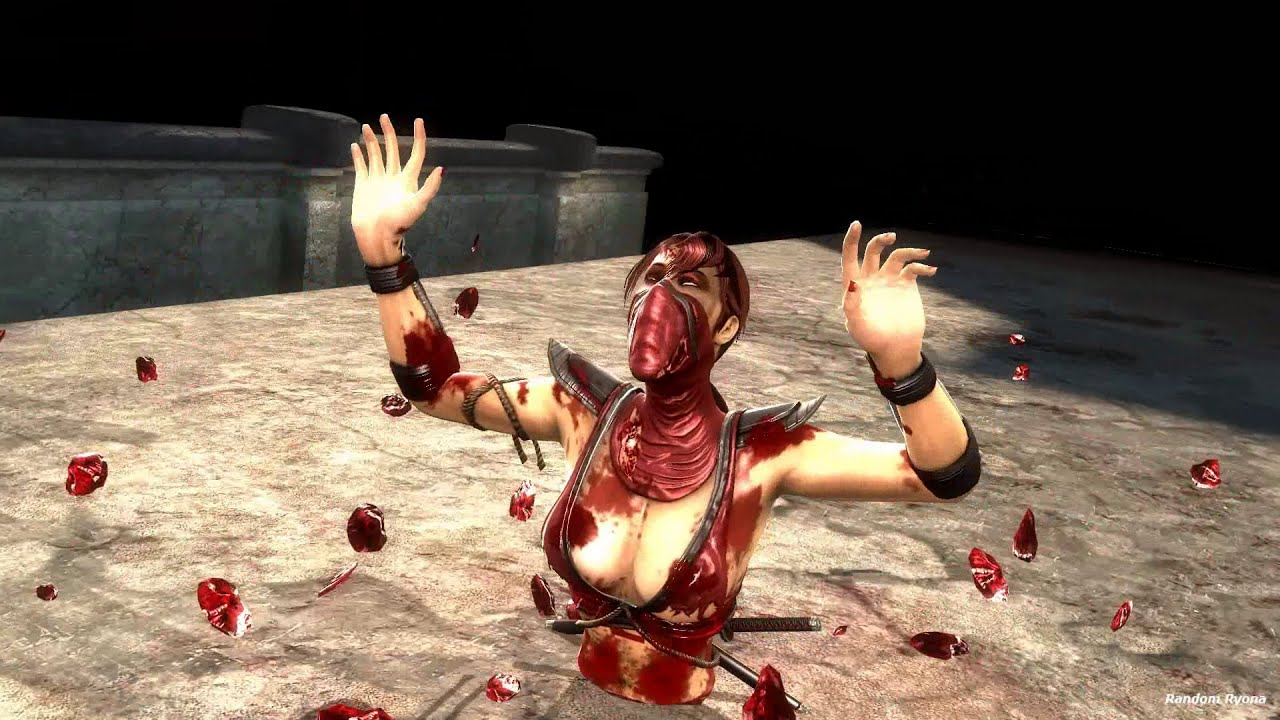Mortal Kombat 9 Fatalities on Skarlet (HD) Part 2 - YouTube