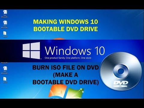 How to make bootable Windows 10 DVD Drive from ISO file (Burn ISO file to DVD)