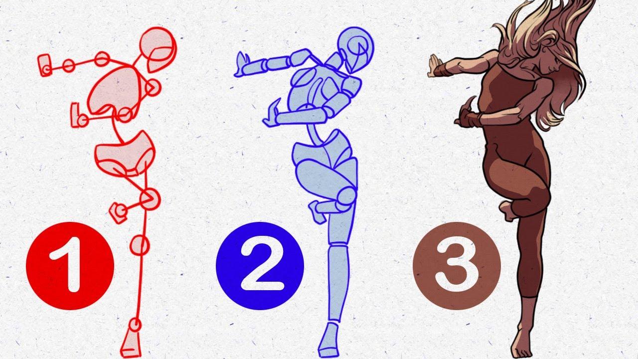 Populaire Comment dessiner un PERSONNAGE: technique débutant - YouTube NQ45