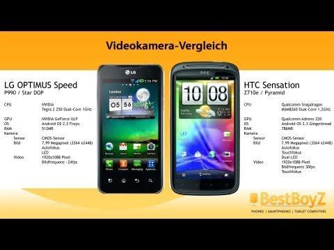 Videokamera-Vergleich: HTC Sensation vs. LG P990 OPTIMUS Speed | BestBoyZ