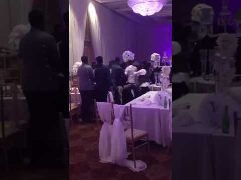 Fight erupts at wedding reception Part 1