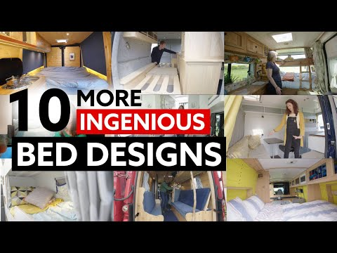 10 (MORE) INGENIOUS BED DESIGNS For Your Van Conversion