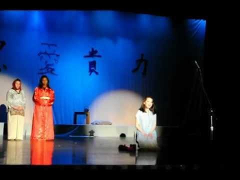 Alder Avenue Middle School's Jamie Weschler sings in Mulan Jr.