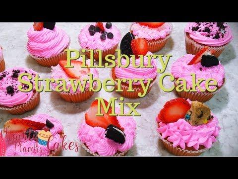 Recipe/Decoration    Pillsbury Strawberry Cake Mix //MIGHTY FLAVORS