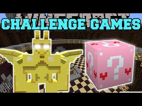 Minecraft: GARGOYLE CHALLENGE GAMES - Lucky Block Mod - Modded Mini-Game