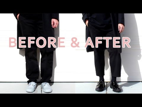 HOW TO CROP A BAGGY TROUSER I MEN'S FASHION
