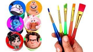 Wreck It Ralph 2 Drawing & Painting Vanellope Ralph Yesss Fun Bun KnowsMore Double Dan Surprise Toys