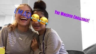 THE WHISPER CHALLENGE!! IN MY SCHOOL CAFETERIA! with ilyssa!