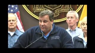 Governor Christie Tuesday Evening Briefing On Hurricane Sandy