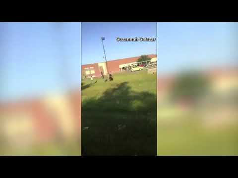 Santa Fe High School shooting - Cell phone video of gunshots