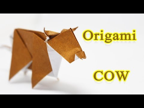 How to fold an origami Cow 🐂🐂🐂