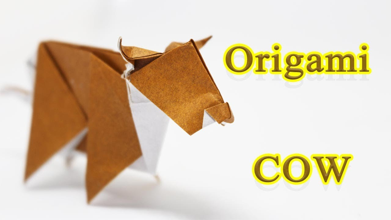 How To Fold An Origami Cow
