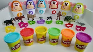 Through MAGIC we LEARN the ANIMALS! #kidssongs #learninganimals #5littlemonkeys #playdohicecreamcups
