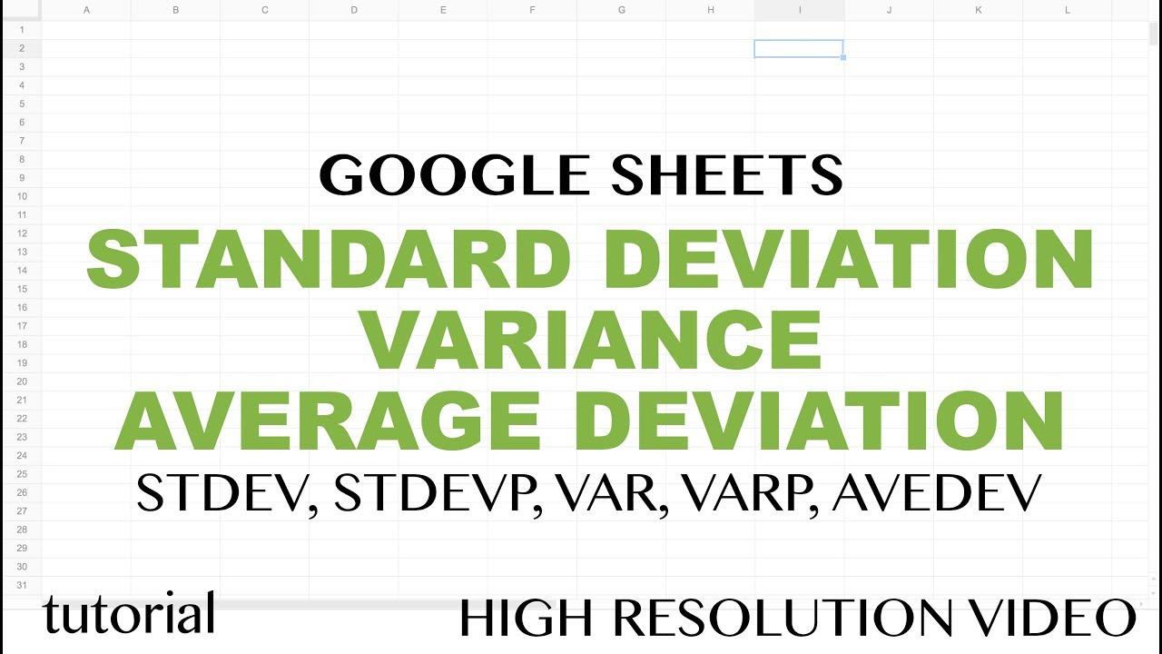 Google sheets standard deviation variance average deviation google sheets standard deviation variance average deviation functions tutorial samplepopulation ccuart Images
