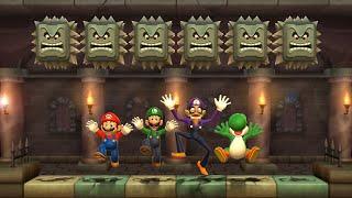 Mario Party 9 MiniGames - Mario Vs Luigi Vs Waluigi Vs Yoshi (Master Difficulty)