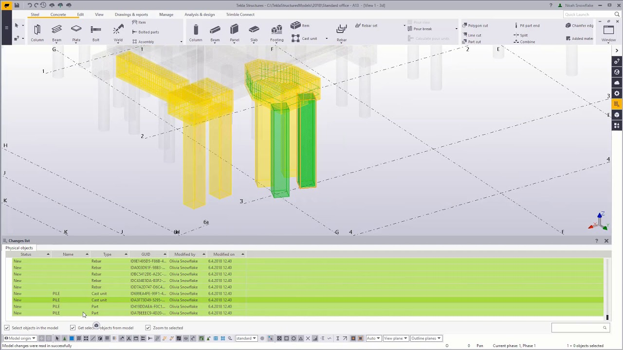 Tekla Model Sharing - Read-in – get the changes your team has made - Part 3