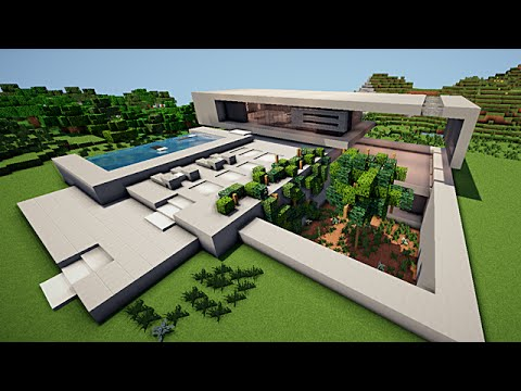 Minecraft maison moderne minimaliste youtube for Maison minimaliste