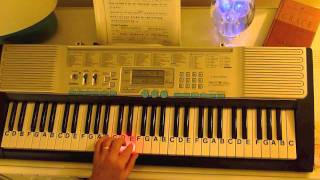 How to Play ~ Finger Excercise ~ Hanon #1 ~ LetterNotePlayer ©