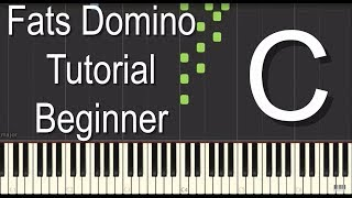 Fats Domino Piano Tutorial - Beginner