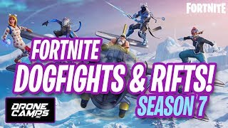 FORTNITE SEASON 7 - FIRST LOOK - BATTLE ROYAL - DOGFIGHTS & RIFTS!