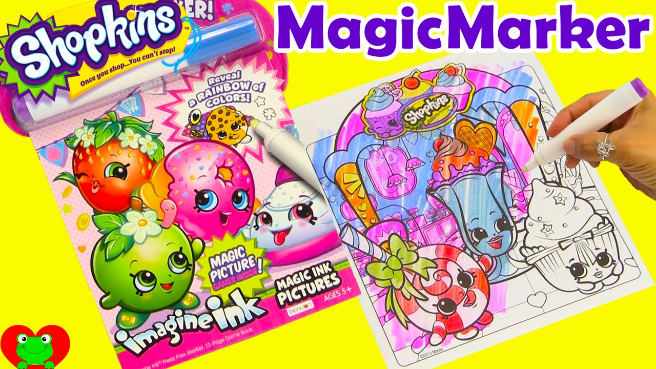 shopkins magic marker imagine ink game booklet with surprises youtube - Magic Marker Coloring Book