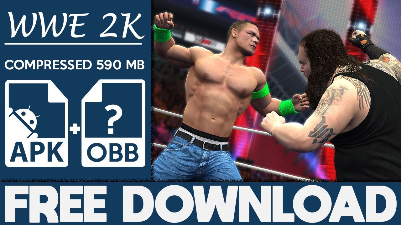wwe 2k free download apk and data