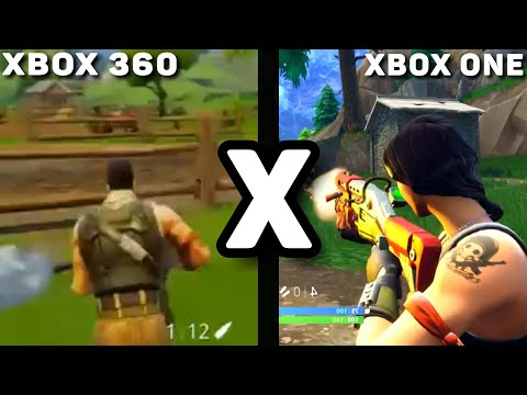 FORTNITE XBOX 360 VS XBOX ONE