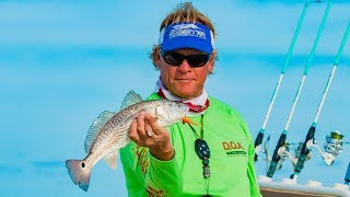 South Padre Island Texas Fishing for Redfish and Trout with DOA Lures