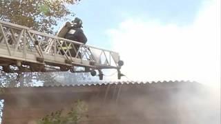 В поселке Молочное загорелся двухквартирный дом из-за короткого замыкания