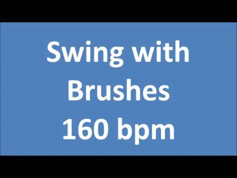 Drum Loops for Practice Swing With Brushes 160 bpm