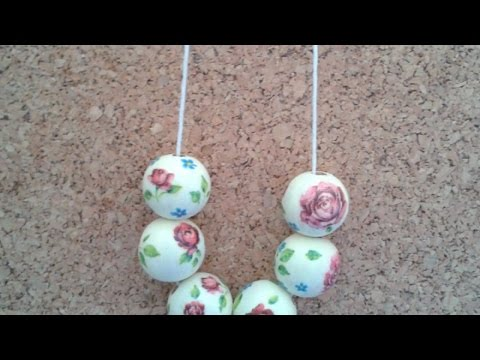 How To Create a Beautiful Decoupage Bead Necklace - DIY Style Tutorial - Guidecentral
