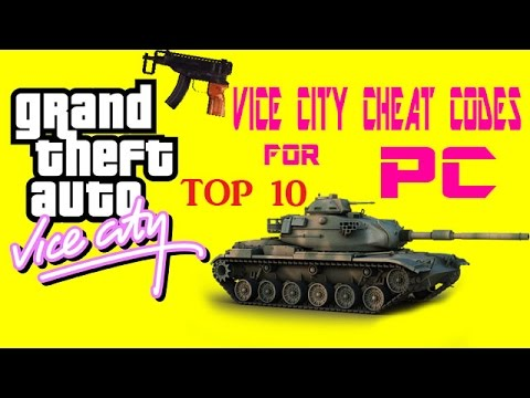 GTA Vice City Cheat Codes For PC ||TOP-10||
