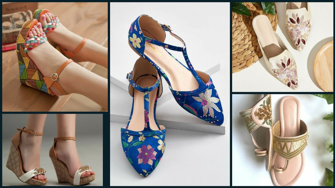 stylish party wear girls wedge heel and low heel sandals collection 2020