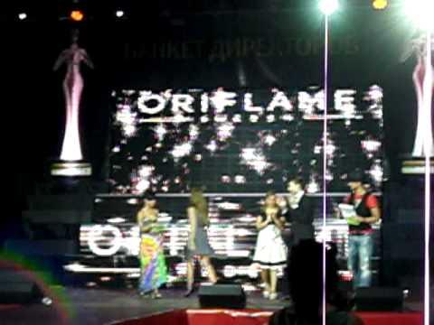 Поздравление директоров Орифлэйм на банкете 2011 Футбольный манеж Минск