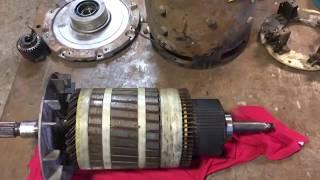 Rebuilding a DC forklift motor (mostly about turning a damaged commutator)
