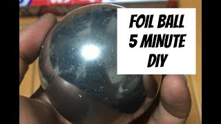 HOW TO MAKE THE JAPANESE ALUMINUM FOIL BALL IN FIVE MINTUES