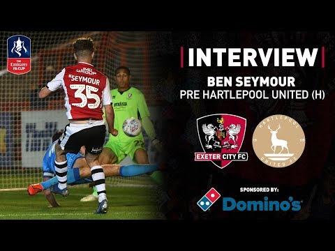 💬 Ben Seymour Pre Hartlepool United | Exeter City Football Club