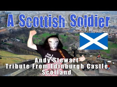 A Scottish Soldier - Andy Stewart -  Metal Cover - Edinburgh Castle Scotland