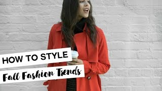 How to Style: Fall Fashion Trends // Outfit Inspiration Look Book