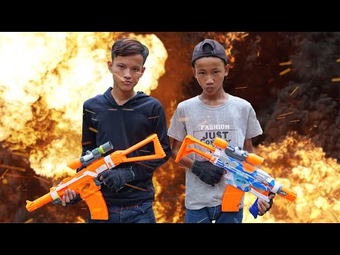 NERF WAR FREE FIRE IS REAL BATTLE 2