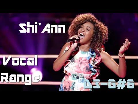 Shi'Ann Jones [The Voice] - Live Vocal Range (D3-G#6)