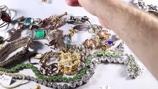 $800 Jewelry Haul 18K Gold Pearl Necklace Vintage Sterling Estate & Garage Sale Thrift Hunter #144