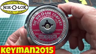 (1183) Nik-O-Lok Pay Toilet Stall Lock PIcked Open and Gutted